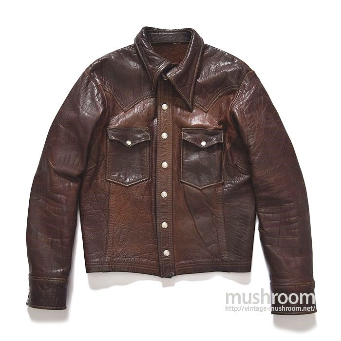 EAST WEST CUSTOM MADE LEATHER JACKET(BUFFALLO LEATHER)