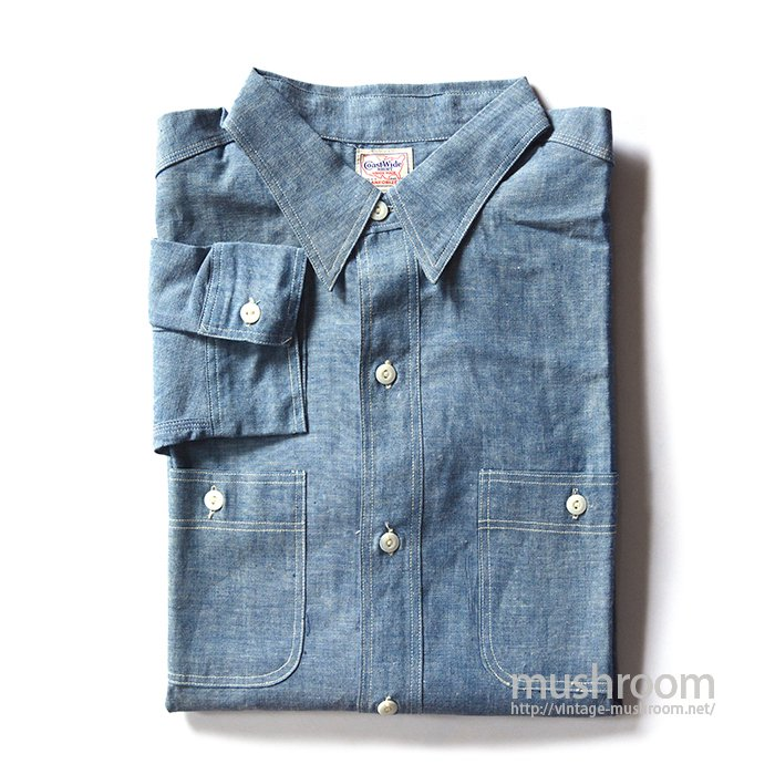 COAST-WIDE CHAMBRAY WORK SHIRT( 17/DEADSTOCK )