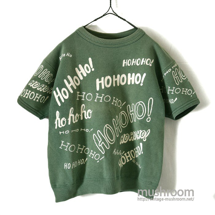 """HOHOHO"" PRINT S/S SWEAT SHIRT"