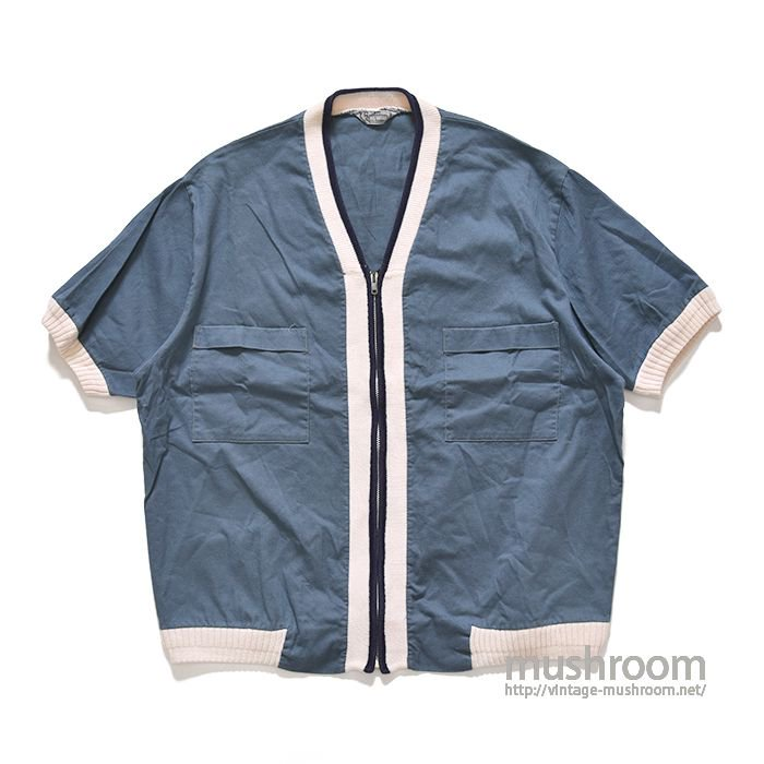 SPORTSWEAR FULL-ZIP COTTON S/S BEACH SHIRT(L/MINT)