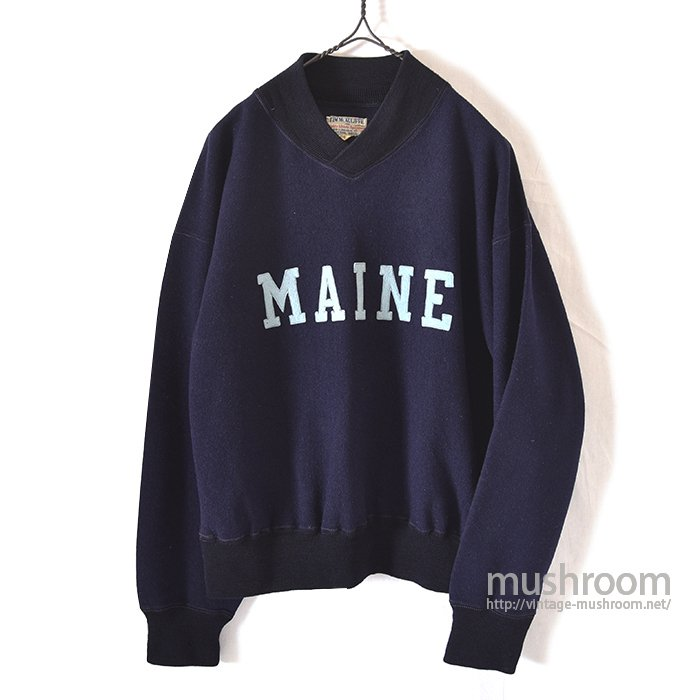 OLD V-NECK  WOOL SWEAT SHIRT