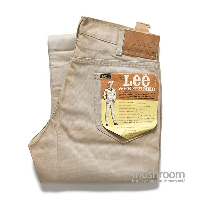 Lee WESTERNER COTTON PANTS( W32L32/DEADSTOCK )