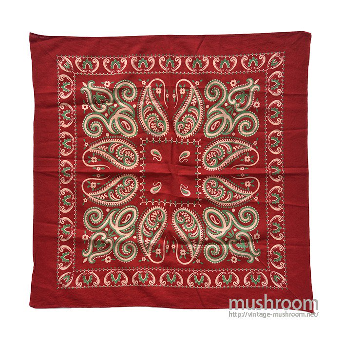 OLD TURKEY RED COLOR BANDANA