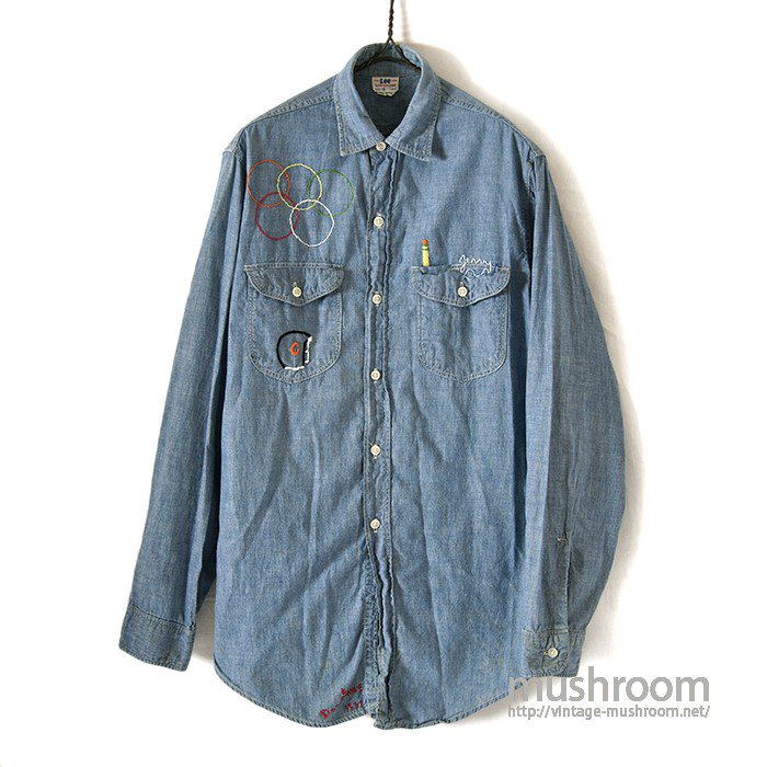 Lee CHAMBRAY WORK SHIRT WITH EMBROIDERY