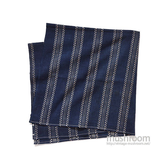 DARK INDIGO STRIPE CALICO FABRIC( MINT )