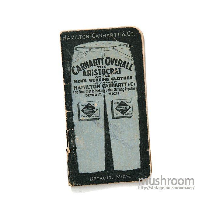 HAMILTON CARHARTT CO RAILROAD TIME BOOK( 1900-1901 )