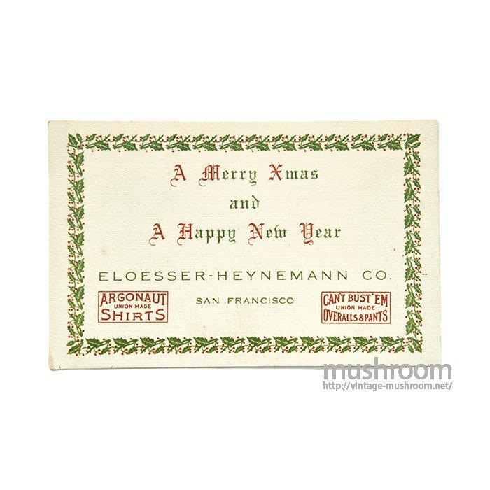 ELOESSER-HEYNEMANN CO. CHRISTMAS & NEW YEAR POSTCARD