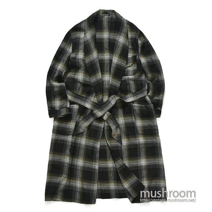 UNKNOWN PLAID RAYON GOWN