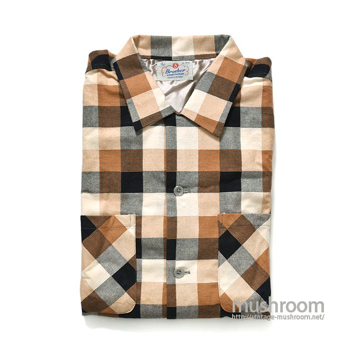 5BROTHER PLAID FLANNEL SHIRT( L/DEADSTOCK )