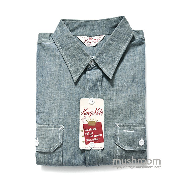 KING KOLE CHAMBRAY WORK SHIRT(DEADSTOCK)