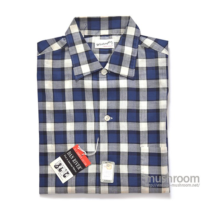 WASHINGTON DEE CEE PLAID S/S SHIRT(S/DEADSTOCK)