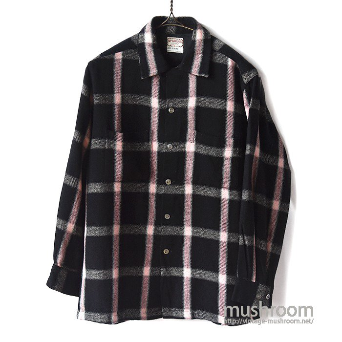 McGREGOR PLAID BOX WOOL SHIRT