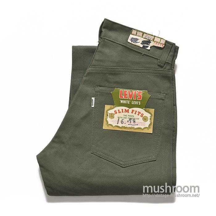 LEVI'S 518E COTTON TWIL PANTS(DEADSTOCK)