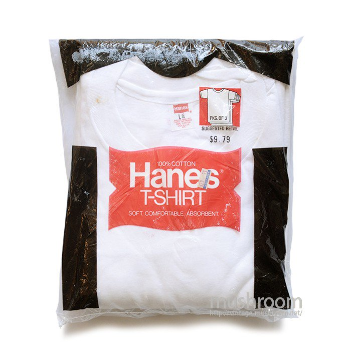 HANES ALL COTTON  PLAIN T-SHIRT( L/DEADSTOCK )