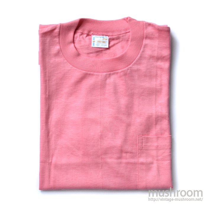 PENNEY'S TOWNCRAFT PINK COTTON POCKET T-SHIRT( M/DEADSTOCK )