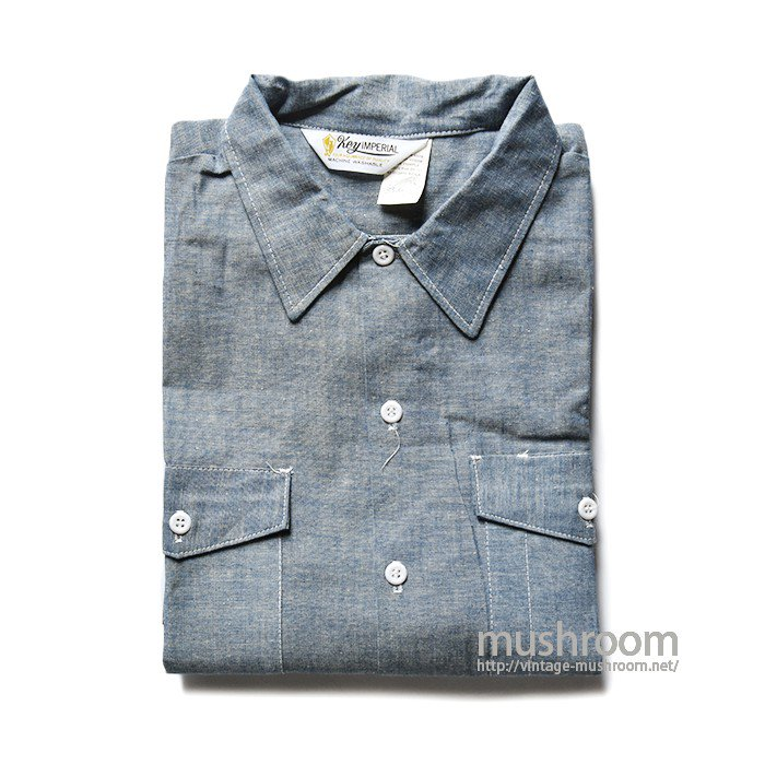 KEY IMPERIAL CHAMBRAY WORK SHIRT(DEADSTOCK)