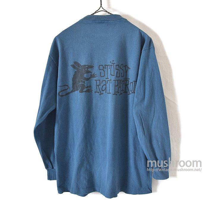 OLD STUSSY LONG-SLEEVE T-SHIRT(L/RAT PATROL)