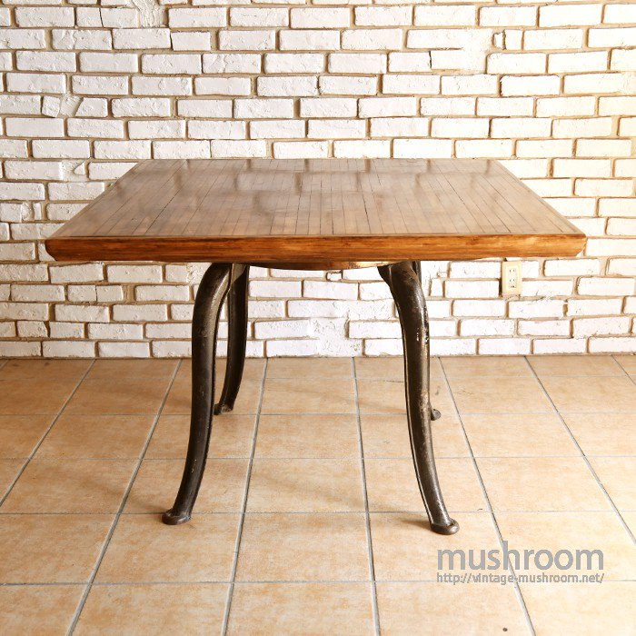 OLD WOOD&METAL INDUSTRIAL WORK TABLE