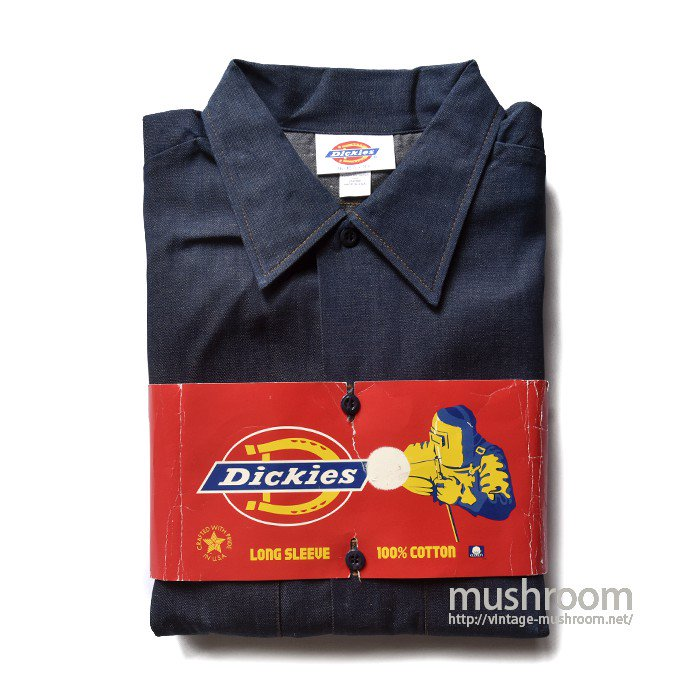 DICKIES DENIM WORK SHIRT(16-16H/DEADSTOCK)