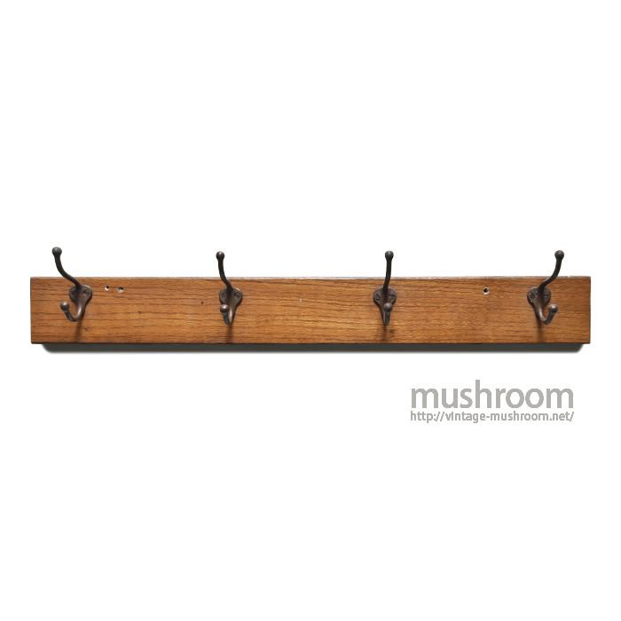 OLD WOODEN WALL HANGER HOOK