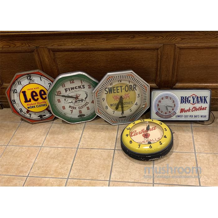 WORK BRAND'S ADVERTISING SIGN WALL CLOCK