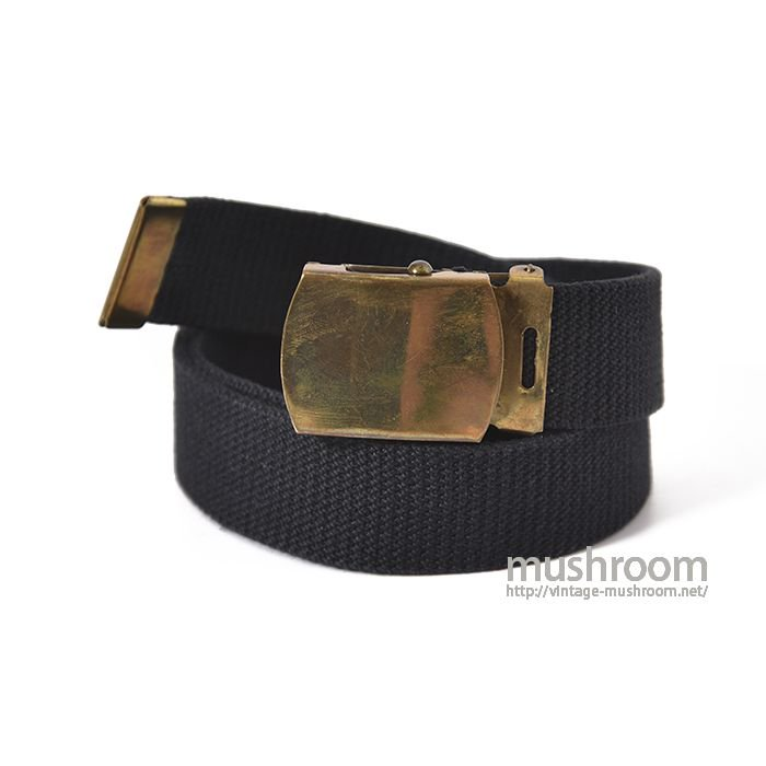 U.S.MILITARY SOLID BRASS COTTON BELT