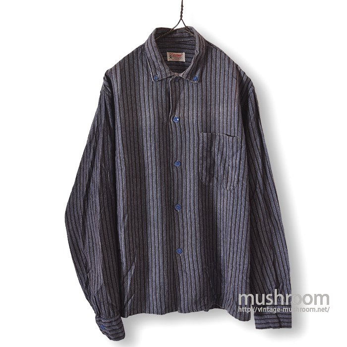 BERMA STRIPE PRINT FLANNEL BOX BD SHIRT