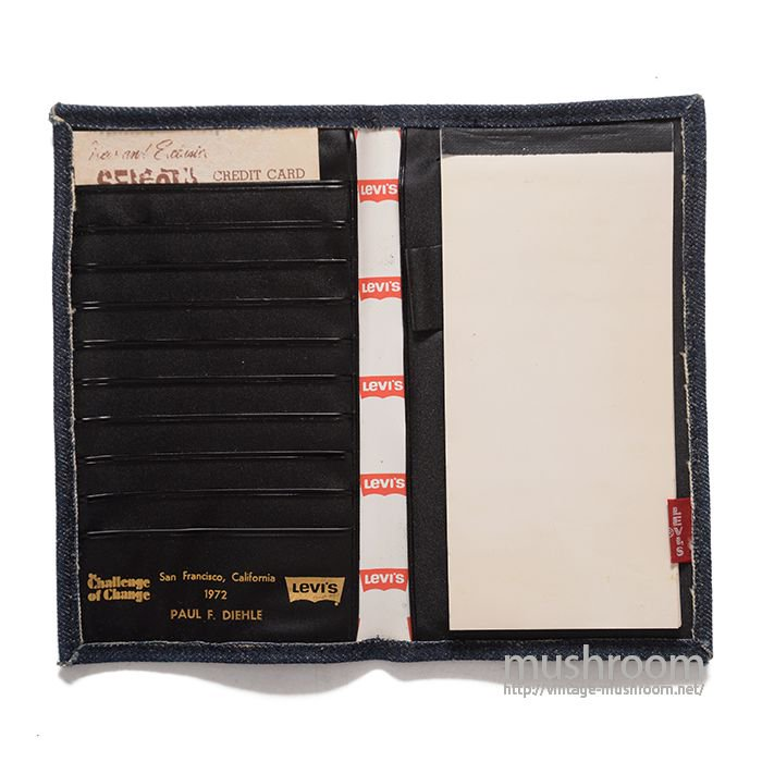 LEVI'S EMPLOYEE NOTEBOOK CARD HOLDER( DEADSTOCK )