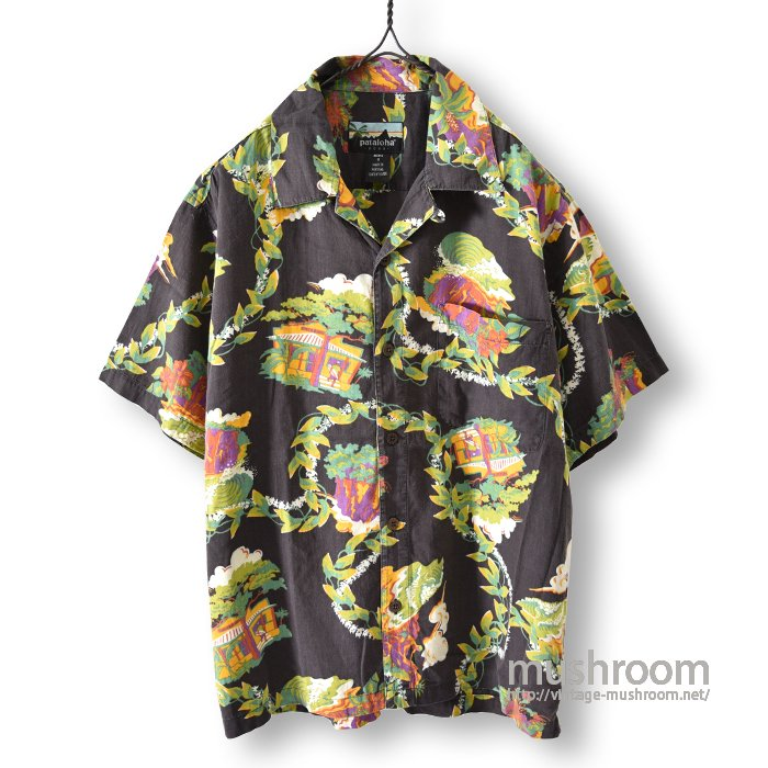 PATALOHA BLACK COTTON HAWAIIAN SHIRT