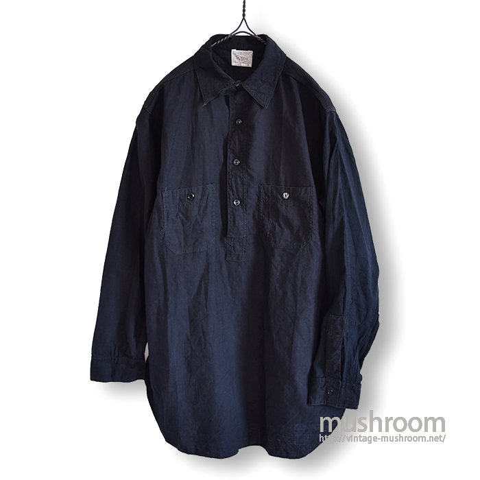 BIG YANK BLACK COTTON WORK SHIRT WITH CHINSTRAP( 16/MINT )
