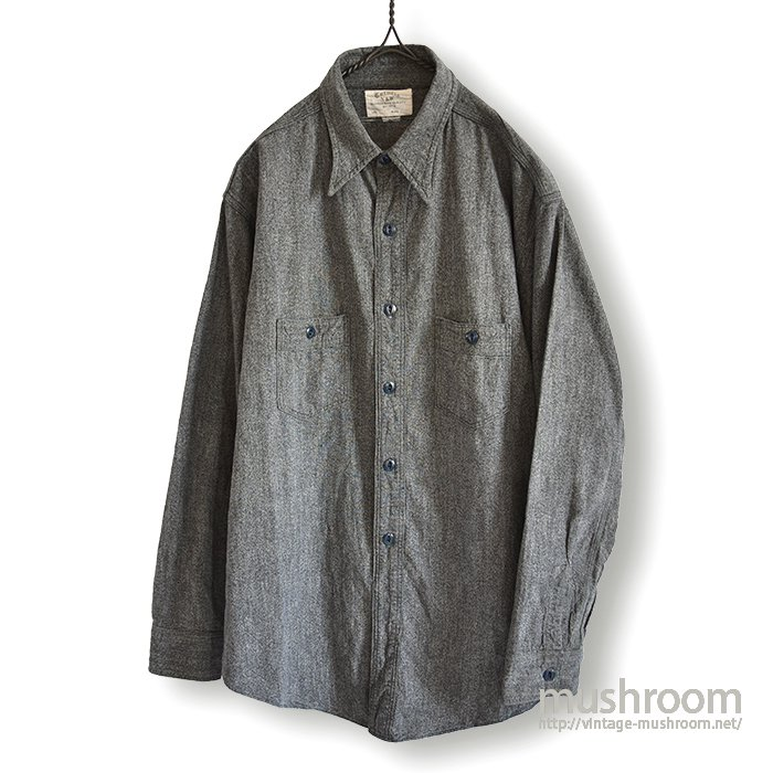 N&W BLACK CHAMBRAY WORK SHIRT( MINT )