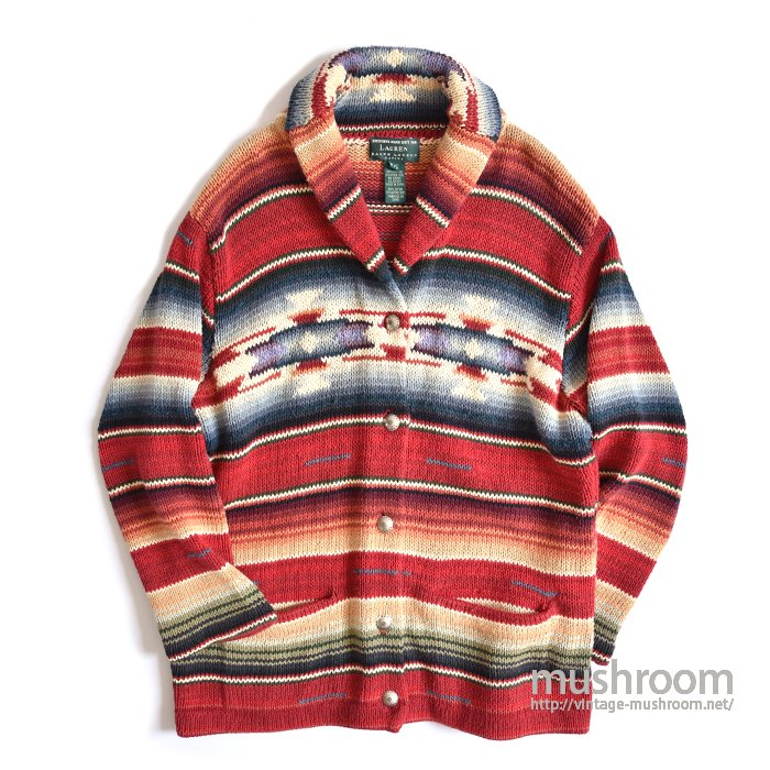 RALPH LAUREN NATIVE HAND-KNIT CARDIGAN