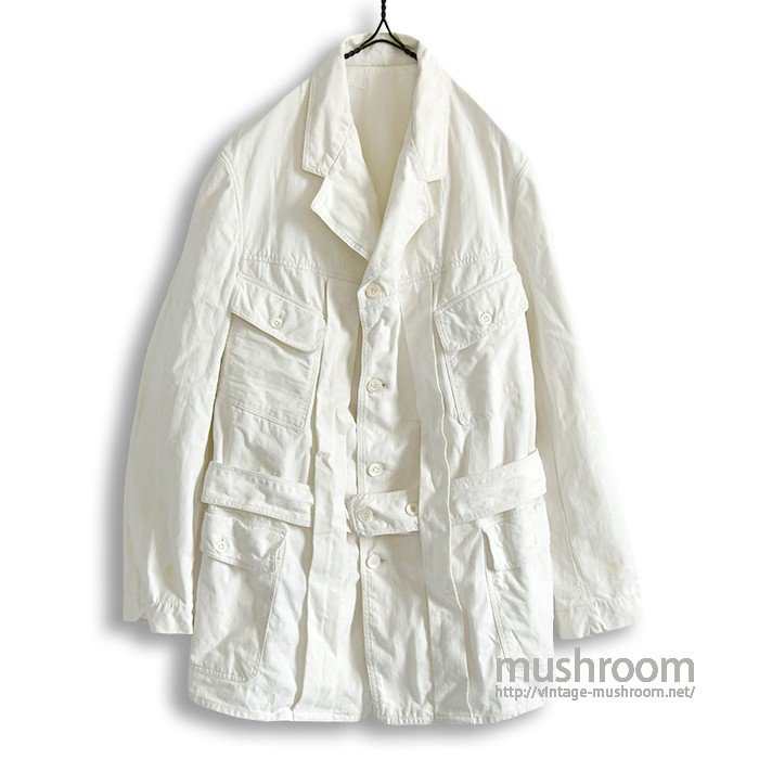 OLD WHITE COTTON NORFOLK JACKET