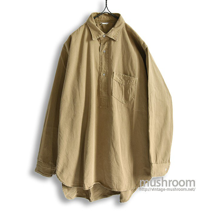 OLD ONE-POCKET COTTON TWILL WORK SHIRT