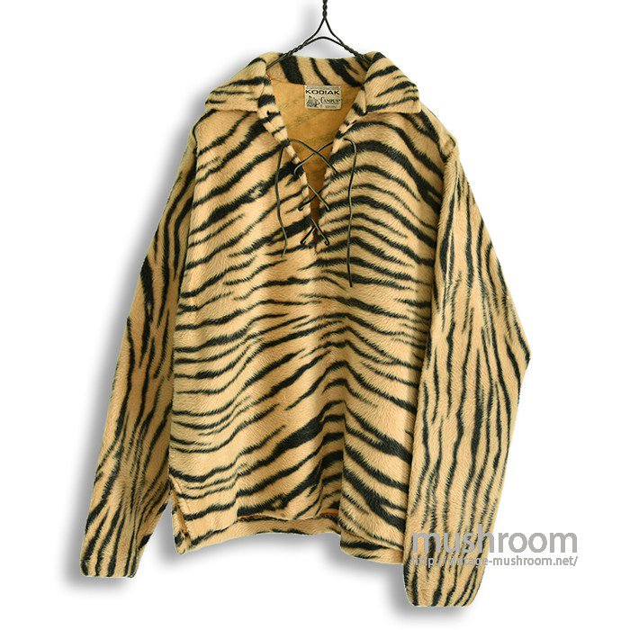 KODIAK TIGER-PATTERN FAKE FUR L/S SHIRT