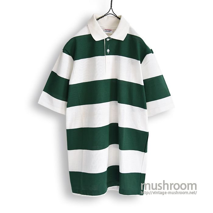 OLD WIDE BORDER STRIPE S/S POLO SHIRT(DEADSTOCK)