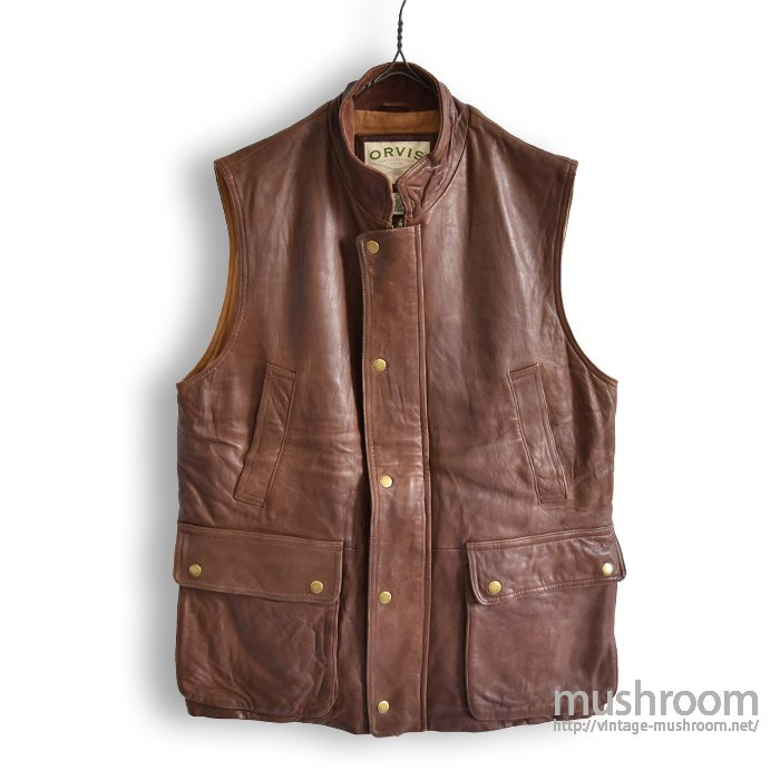 ORVIS LEATHER DOWN VEST