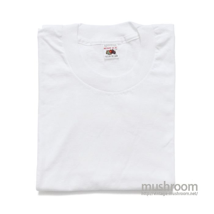 FRUIT OF THE LOOM PLAIN T-SHIRT(M/DEADSTOCK)