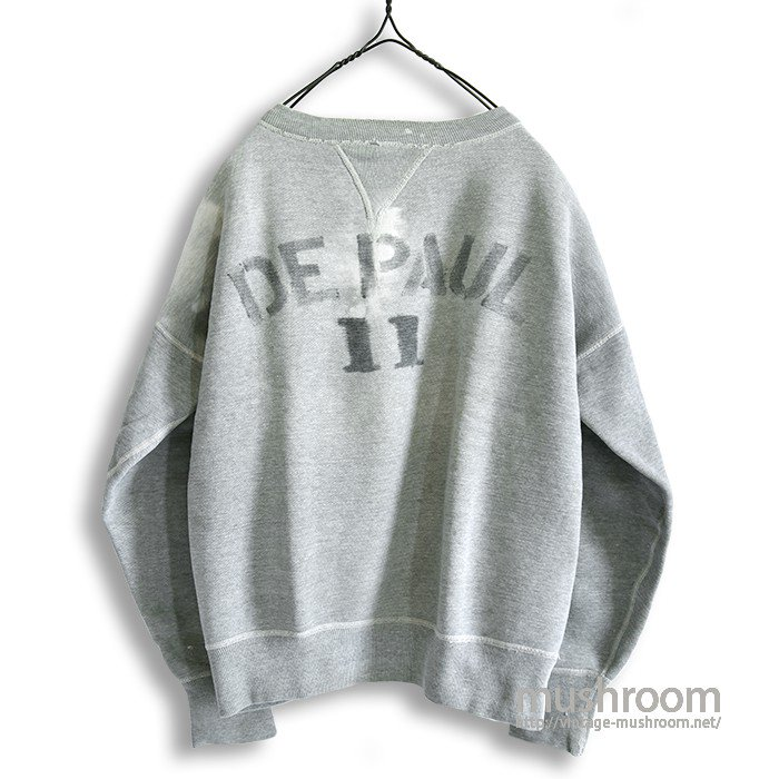 OLD W/V SWEAT SHIRT WITH STENCIL