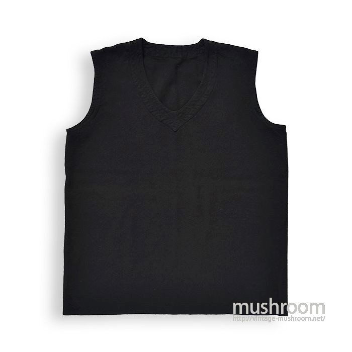 OLD BLACK WOOL VEST