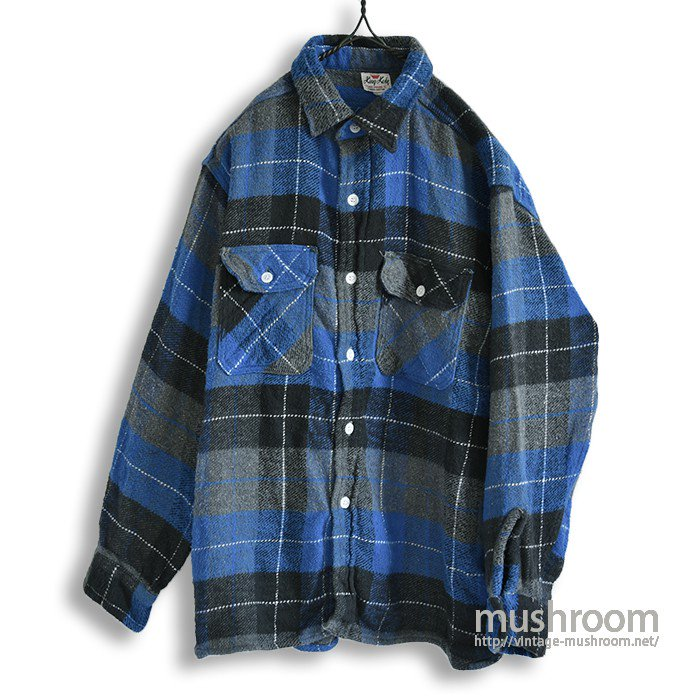 KING KOLE PLAID FLANNEL SHIRT(MINT )