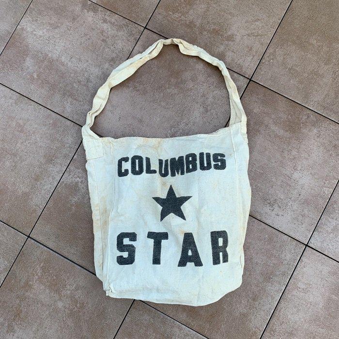 COLUMBUS STAR CANVAS MAGAZINE BAG