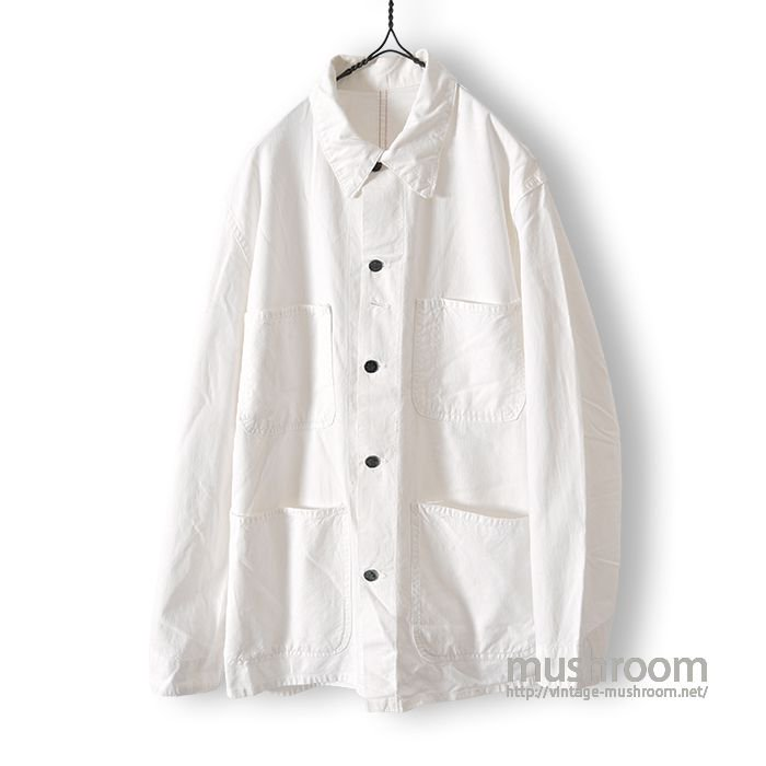 OLD WHITE COTTON FOUR-POCKET COVERALL