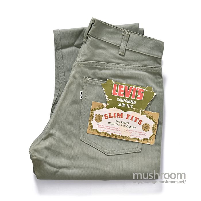 LEVI'S 800E COTTON TWIL PANTS(DEADSTOCK)