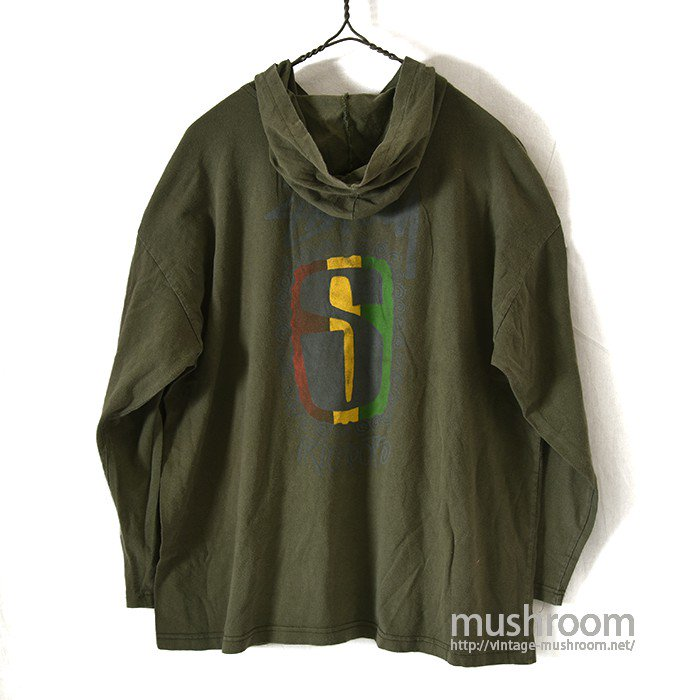 OLD STUSSY LONG-SLEEVE T-SHIRT WITH HOODY