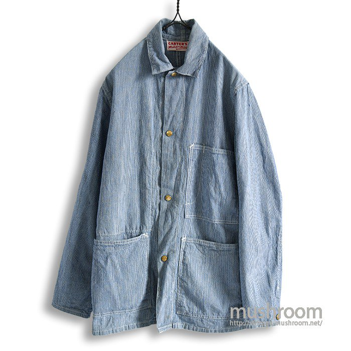 CARTER'S PIN-STRIPED COVERALL