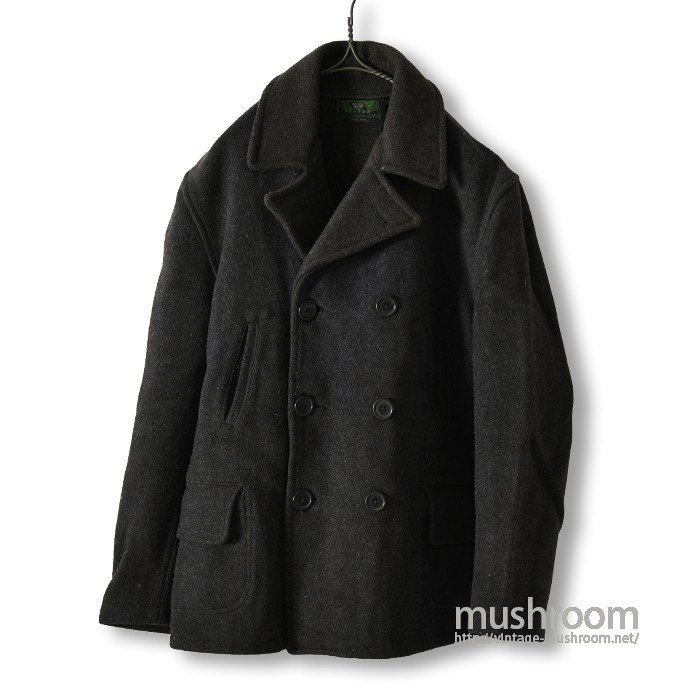 BLACK BEAR DOUBLE-BREASTED WOOL COAT