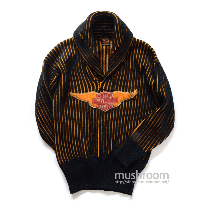 HARLEY-DAVIDSON GOLD WINGS SHAWLCOLLER SWEATER( 38/MINT )