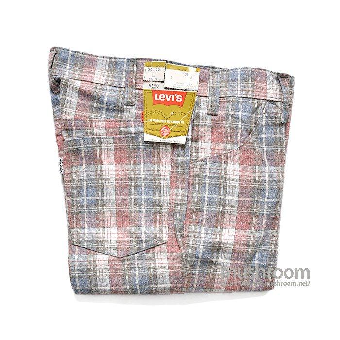 LEVI'S STA-PREST PLAID FLAIR PANTS( 30-30/DEADSTOCK )