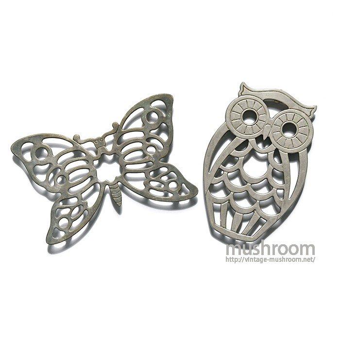 Leonard Silverplate Butterfly&OWL Hot Pad